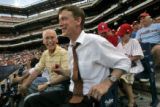 [ES0075] Denver Mayor John Hickenlooper takes in game two of the National League Divisional Series...