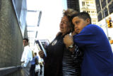 NYT16 - (NYT16) NEW YORK -- SEPT. 10, 2004 -- WTC-ANNIVERSARY-4 -- Ilia Rodrifuez-Lillo is...