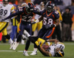[EPS101] Denver Bronco teammates Domonique Foxworth and D.J. Williams knock Pittsburgh's Hines...
