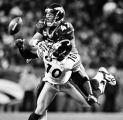 Denver Broncos John Lynch breaks up a pass for Pittsburgh Steelers Santonio Holmes in the first...