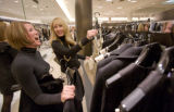 (Denver, Colo., Oct. 17, 2007) Nordstrom sales associate Maren Richards helps Samantha Castilla...