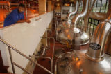 MILLER, NWS, PORTER, 2. - Tour guide Joulian McGhee waits during a tour of Miller Brewing...
