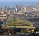File photo of Miller Park is shown in this aerial view looking East.  jeffrey phelps JEFFREY...