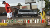 Denver, Colo., photo taken September 12, 2004- Auturo Gonzales (left) a resident of the...