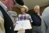 0101 Pinon Canyon Expansion Opposition Coalition members Jerry Winford, left, Kevin Karney,...