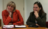 Lynn M. Utter (cq), left, Chief Strategy Officer for Coors, and Christine Assouad Sfeir (cq), CEO...