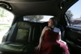 0478 Mallory Rosmiller, 20,  rides in a donated limousine to the annual Prom at Laradon Hall in...