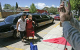 0495 Mallory Rosmiller, 20,  arrives in a limousine , donated by Chipolte that takes all of the...