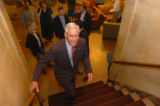 (8/29/2004) New York City-US senate candidate Pete Coors arrives at a party for the Colorado...
