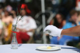 A table for one is set as a symbol for the Unknown Soldier as part of the ceremony celebrating the...