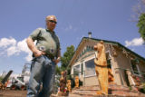 Gary Davis (cq) stands outside his business, Franktown Firewood and Fireside, in Franktown, Colo.,...