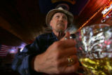 Michael Ross (cq), a retired Denver Police Sgt., has a frosty beverage at the Stagecoach in...