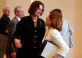 (BOULDER, Colo., May 19, 2004) University of Colorado president Betsy Hoffman hugs Co-Chairman,...