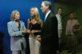 (8/30/04, New York, NY)  Colorado GOV. Bill Owens his daughter Monica and his wife Frances wait to...