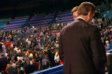 (8/30/04, New York, NY)  Colorado GOV. Bill Owens talks with Ralph Reed in the Vice President's...