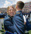 (JOE229) - Air Force Academy second lieutenant Patricia Elmstrand (cq), of North Branch, Minn.,...