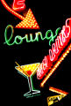 (DENVER, CO., SEPTEMBER 13, 2004)COVER: The giant neon sign in front of the Satire Lounge as...