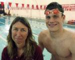 Coach of the year, Debbie Stewart and Swimmer of the year, Mark Dylla (cq both) The Rocky Mountain...