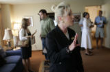 Debra Buchanan (cq), the Director of Hotel Sales for the Denver Marriott Tech Center, gives a tour...