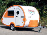 T@B camping trailers Know for bright colors and aerodynamic shape, ultra-lightweight T@B trailers...