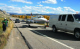 NWS plane landing1 KA 10-10-07 Kristin Anderson/kanderson@vaildaily.com A Cessna 340 is towed off...