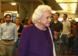 Former U.S.Supreme Court Justice, Sandra Day O'Connor, prepares to leave the D U Sturm College of...