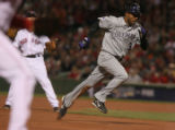 [RMN205] Colorado Rockies Willy Taveras steals third base  during Game 2 of the World Series at...