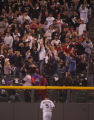 [6517]  Colorado Rockies Matt Holliday watches as a homerun by Boston Red Sox Mike Lowell goes...