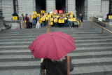 Rally on west steps of the capitol announcing a plan to introduce legislation  concerning the...
