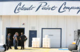 Police and fire investigate a possible explosion at the Colorado Paint Company at 4747 Holly...