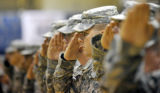An advanced party from the 2nd Brigade Combat Team made a jubilant return to Ft. Carson to the...
