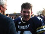 University of Northern Colorado place kicker Zak Bigelow is all smiles after Saturday's game...