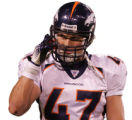 [JPM699] In the fourth quarter, Denver Broncos safety John Lynch (47) walks off the field after...