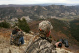 MJM053  On the day prior to the opening of rifle hunting season, Shannon Crase (cq), left, and...
