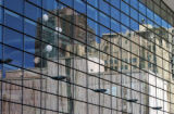 (DENVER, CO., Sept 1, 2004) Outside view of the Colorado Convention Center reflections of downtown...