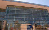 (DENVER, CO., Sept 1, 2004) Outside view of the Colorado Convention Center with reflections of...
