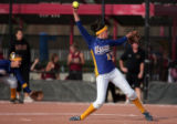 Wheatridge pitcher Giana Zimmerman pitches a shut out  in the  quarterfinal 5A Girl's State...