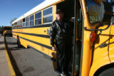 Danny Kenny (cq), with his bus on Monday October 22, 2007 outside Laura Ingalls Wilder  Elementary...