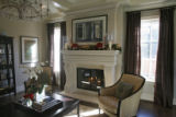 The living room with a holiday decorated fire place, in the Wissmann's house, Thursday afternoon,...