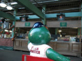 [566] Red Sox Kid Nation, Wally the Green Monster inside Fenway Park in Boston before Game 2 of...
