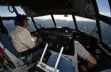 (Jefferson Co. Airport, Colo., May 20, 2004)    Henry Boynton, left, pilots a  National Center for...