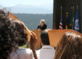 Today, Representative Marilyn Musgrave (cq) (at center) hosted a naturalization ceremony at the...