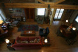 A view looking down into the living room. Sharon Bond Brown and her husband Rex Brown live within...