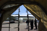 (DENVER, Colo., May 20, 2004) Photos of an A-300 Airbus  throgh an empty cargo container at the...