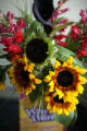 Barb Probst, owner of Barb's Flower Market, created this flower bouquet in a Wheat Thins box for...