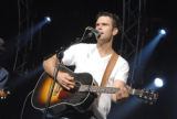 NASHVILLE:  Chuck Wicks performs in a Nashville showcase for record company executives on the...