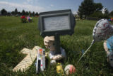 Gravesite of Chandler Grafner (cq) in the Guardian Angel Section of Mt. Oliver Cemetery on Friday...