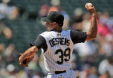 Colorado Rockies third-time starting pitcher Elmer Dessens   picked up his first win as a starter...