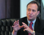 Colorado democrat Ed Perlmutter talks about his first day as a congressman while in his office in...