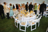 Guests begin to enter the outdoor tent for dinner at the 2007 Fete des Fleurs at the Denver...